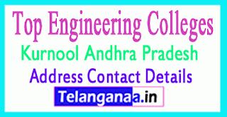 Top Engineering Colleges in Kurnool Andhra Pradesh