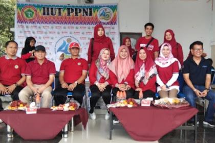 Ketua Tim Penggerak PKK Kabupaten Wajo menghadiri HUT PPNI Kabupaten Wajo di Lapangan Merdeka Hari ini.
