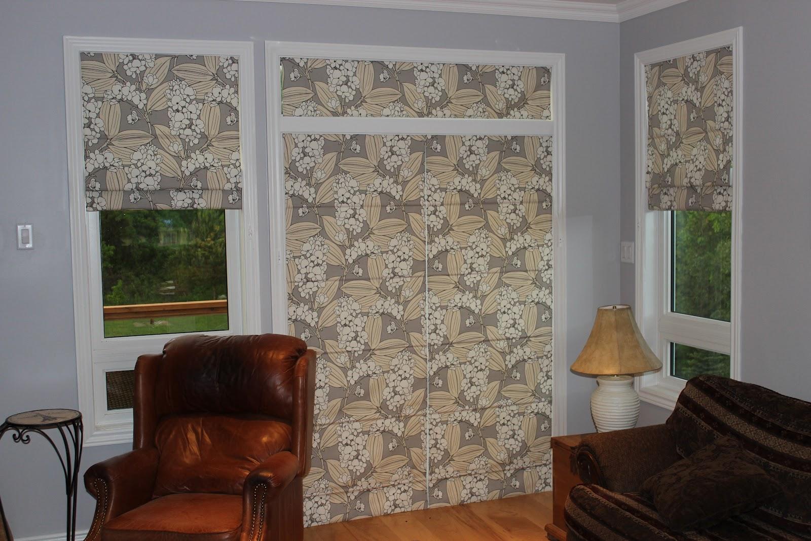 Custom Interiors Roman Shades In A Patio Door