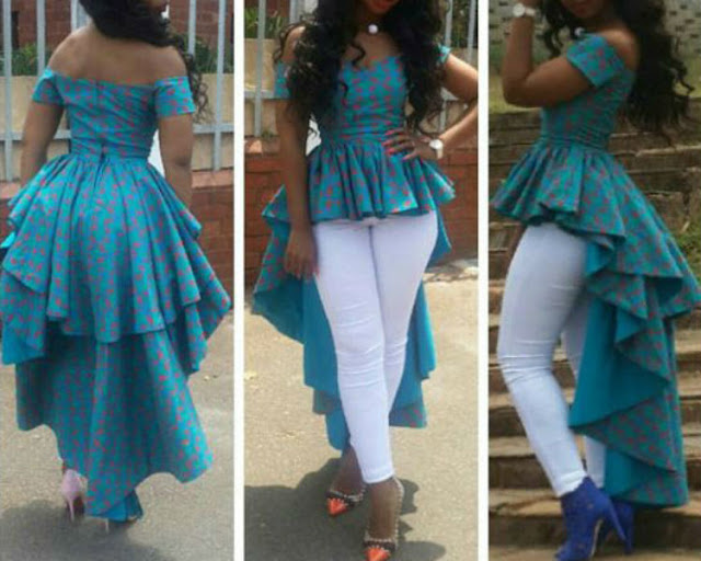 African Printed Fashion trend and the Significance of Peplum Tops
