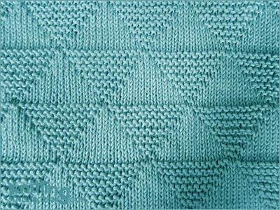 Stockinette And Garter Triangles Knitting Stitch Patterns