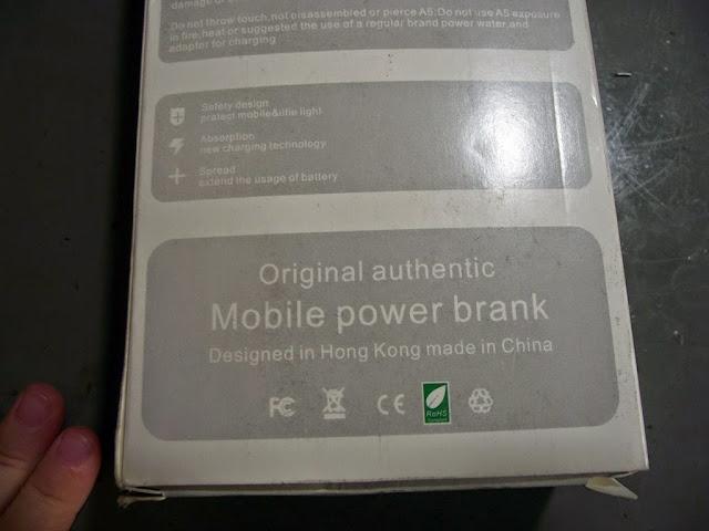 Caixa do Power Bank