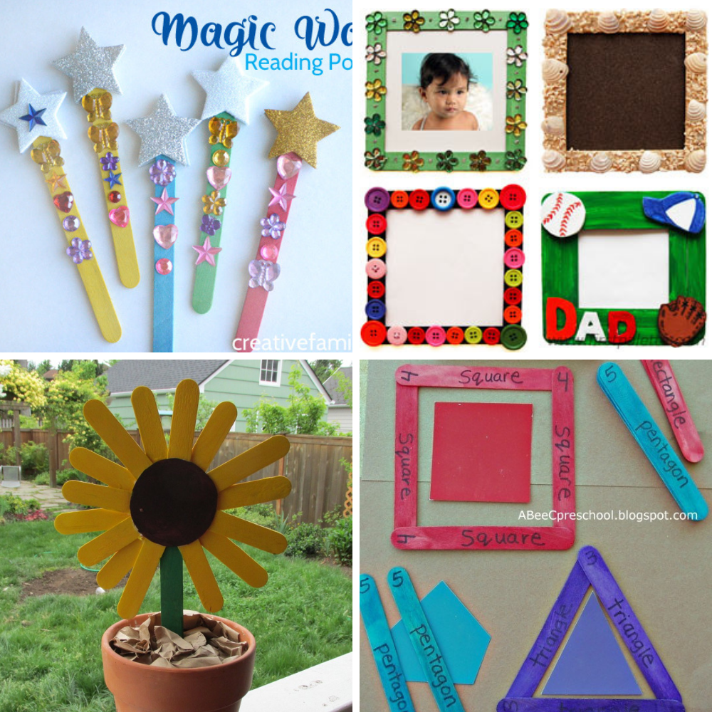 popsicle craft stick ideas for kids