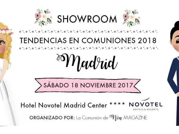 ¡MAÑANA NOS VEMOS EN TENDENCIAS EN COMUNIONES 2018 MADRID!