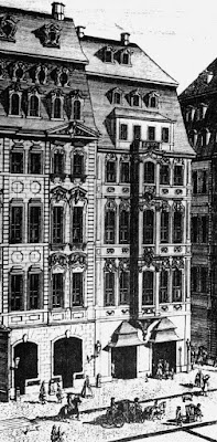 Café Zimmermann in Leipzig (detail of an engraving by Johann Georg Schreiber, 1732)
