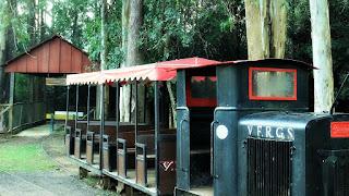 Miniatura de Trem no Parque Zoológico de Sapucaia