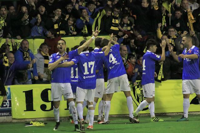 Aythami celebra su gol