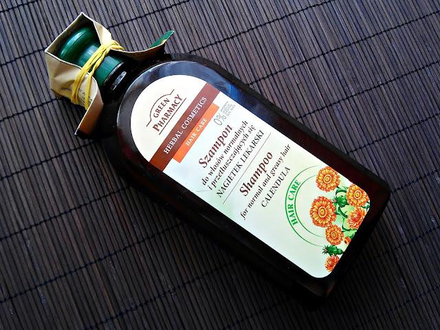Green Pharmacy - Szampon do włosów normalnych i przetłuszczających się - Nagietek lekarski, opakowanie