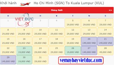 Giá vé máy bay đi Kuala Lumpur 19k từ Vietjet Air bay từ Tp.Hồ Chí Minh