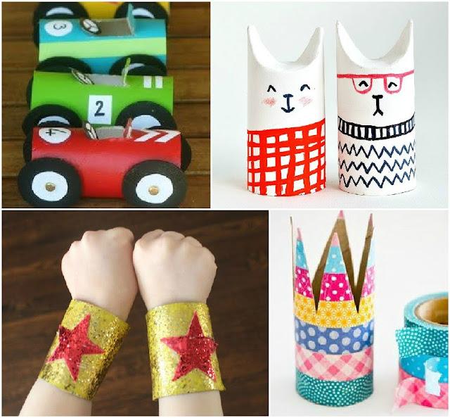 Manualidades con niños con rollos de papel higiénico