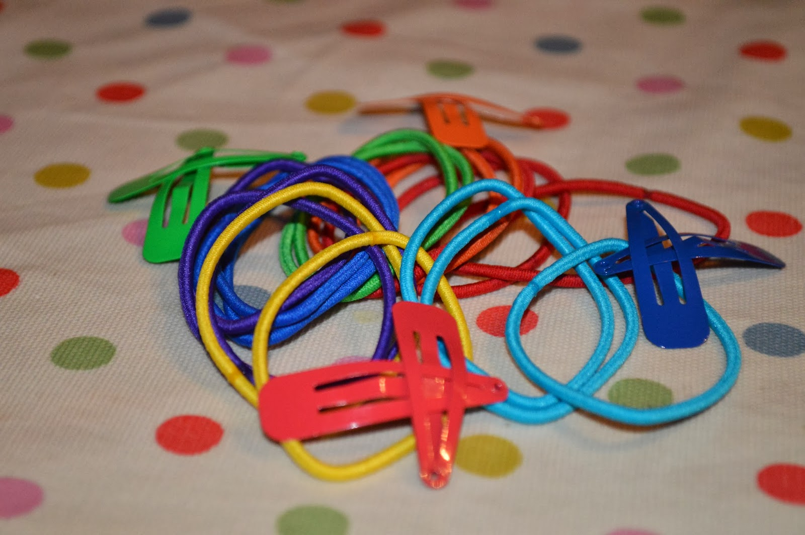 Back to School bright bobbles hair bands