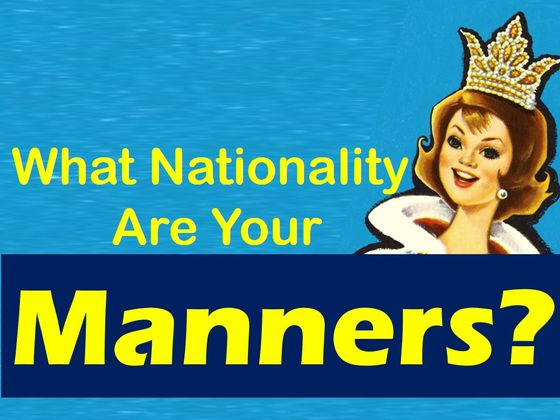 Fascinating test reveals what nationality your manners are from! border=