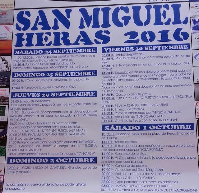 Fiestas de San Miguel Arc�ngel 2016 en Heras