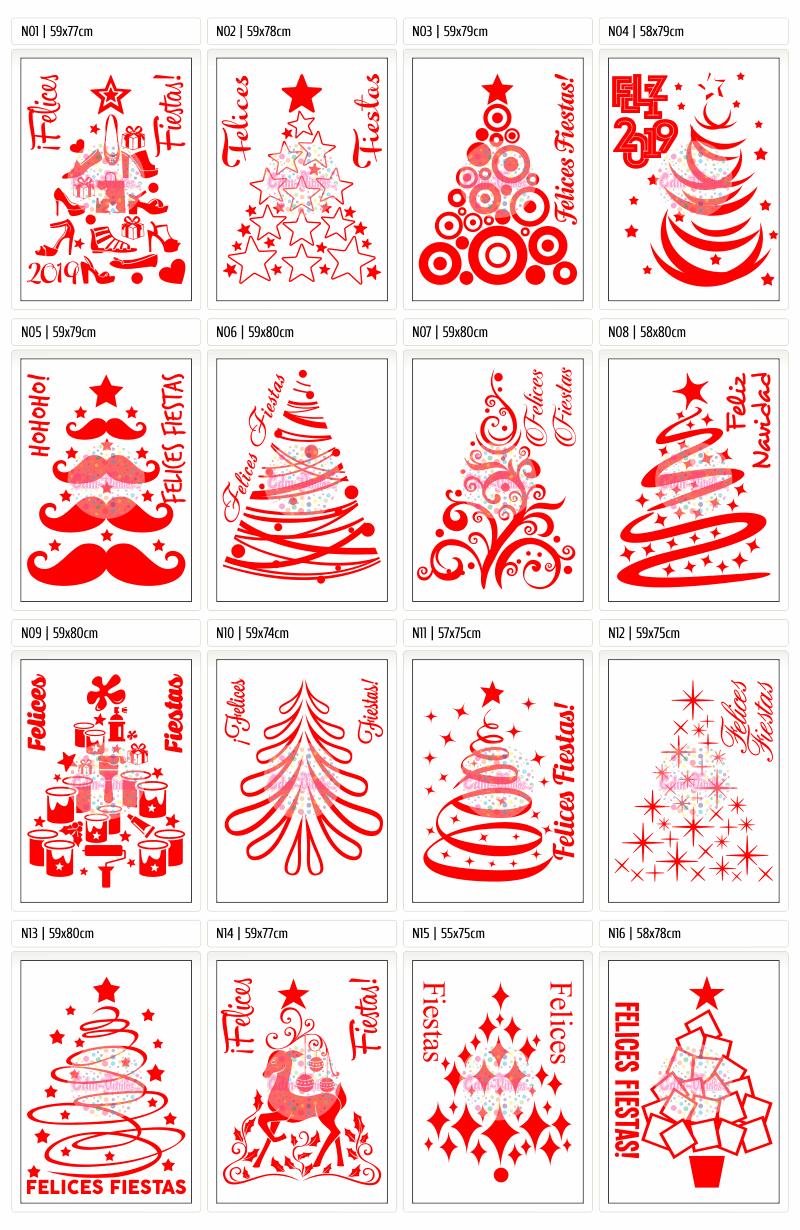 vinilos navideños, vinilos para vidrieras navidad,Vinilos Navidad 2018, Feliz Año Nuevo 2019, Carteles, Vidrieras, vinilos decorativo, vinilos trineos, vinilos arboles navidad