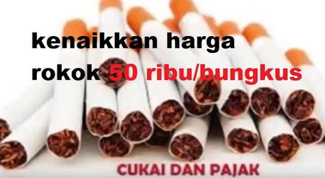 gambar aktivitas kenaikkan harga rokok