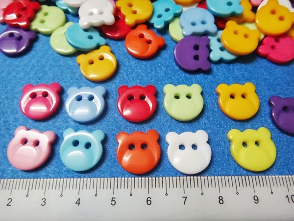 Bear Face Buttons