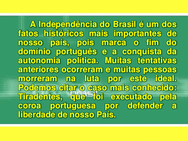 Independencia do Brasil texto