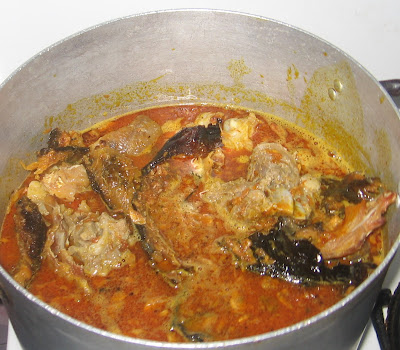 Cooking banga afang soup with step by step pictures 09