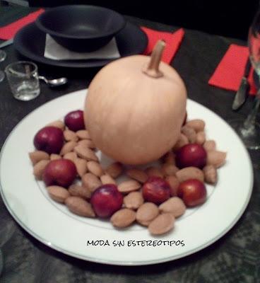 Centro de mesa de otoño con calabaza Halloween