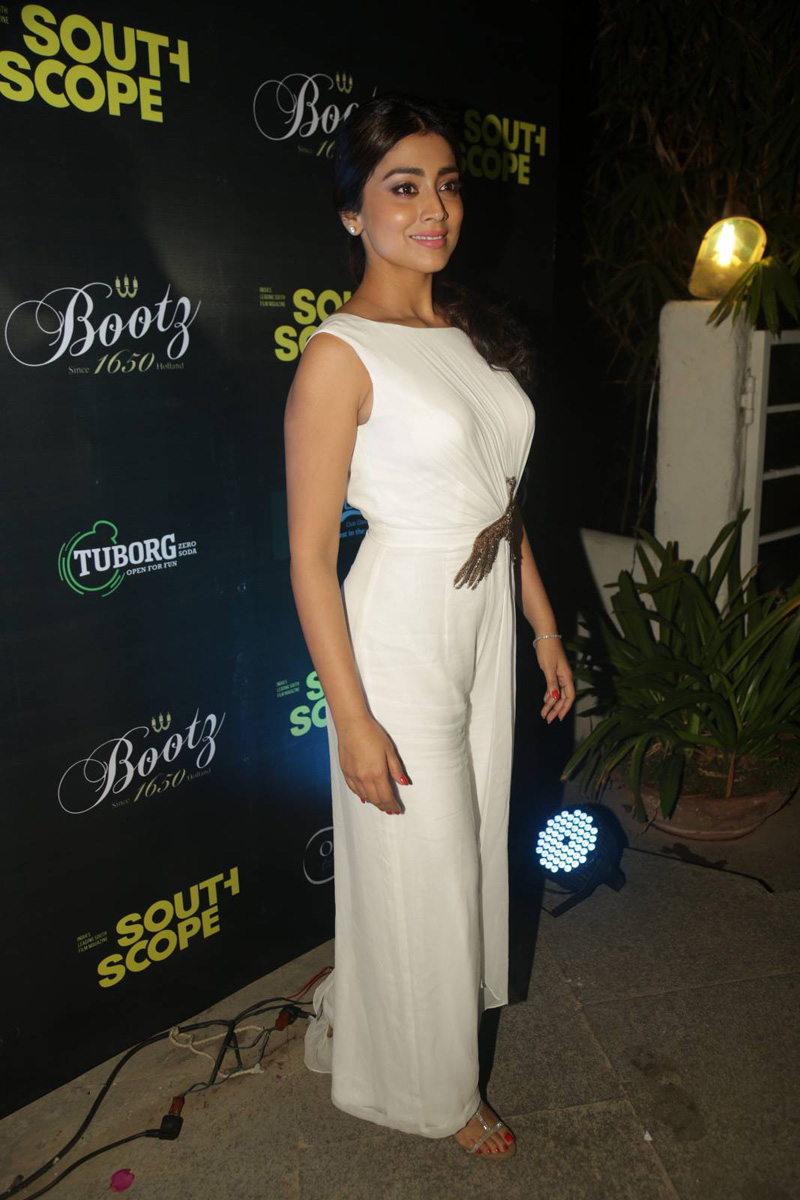 Shriya Saran At South Scope Calendar Launch In White Dress