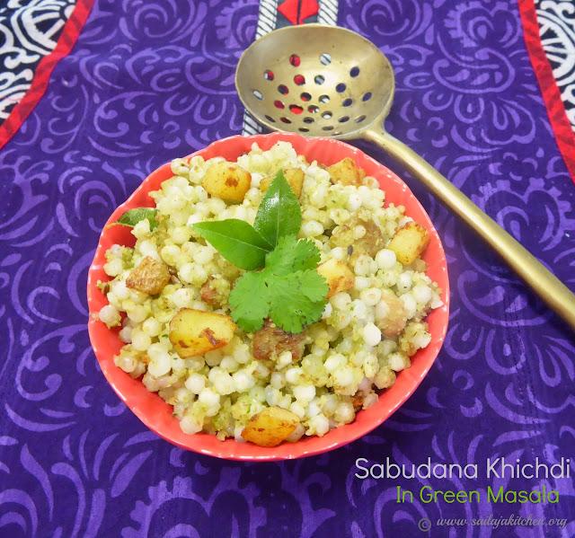 images of Sabudana Khichdi In Green Masala / Sago Khichdi / Sabudana Khichdi - Mahashivaratri Recipe