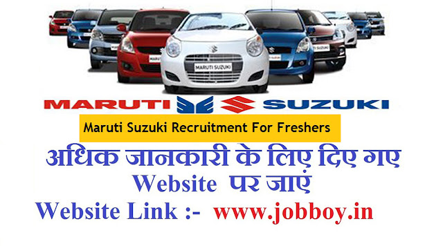 Maruti Suzuki Recruitment 2019, Apprentice, All India Job