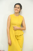 Taapsee Pannu looks mesmerizing in Yellow for her Telugu Movie Anando hma motion poster launch ~  Exclusive 085.JPG
