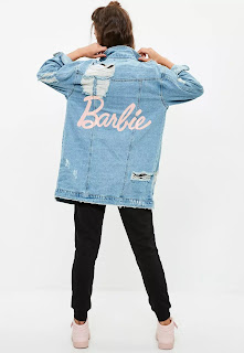 Barbie X Missguided Blue Longer Length Denim Jacket