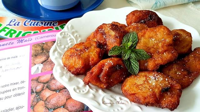 Buñuelos cameruneses de plátano y maíz  #singluten