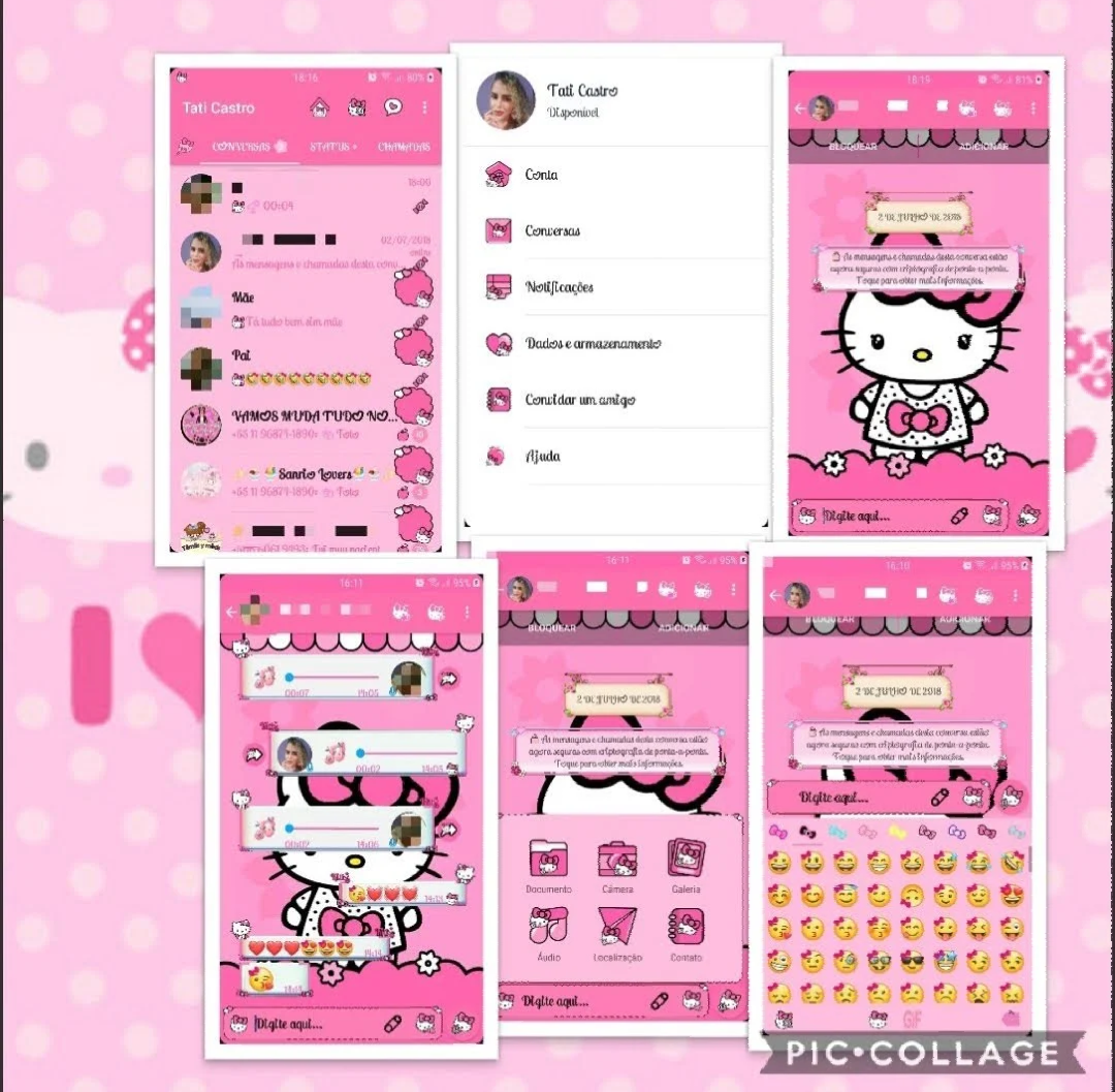 NS WhatsApp v6 40 Hello Kitty Big Bow Edition Latest Version
