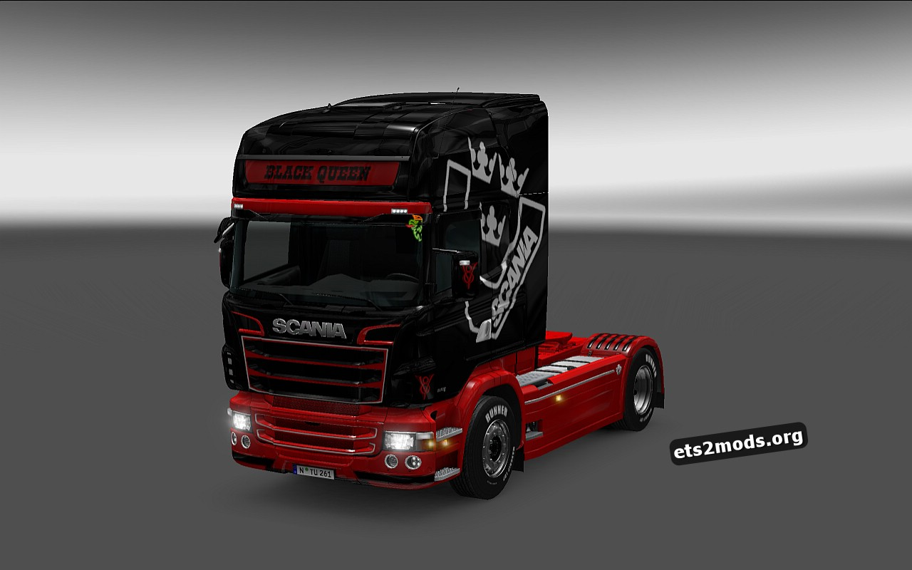 Black Queen Skin for Scania RJL
