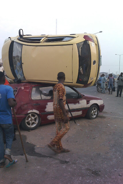 Photo Of The Day: Funny Accident At Ayetoro, Osogbo