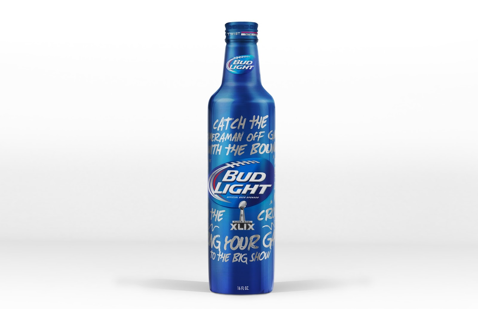 Bud Light Super Bowl XLIX Limited Edition Bottle On Packaging Of The World    Creative Package Design Gallery