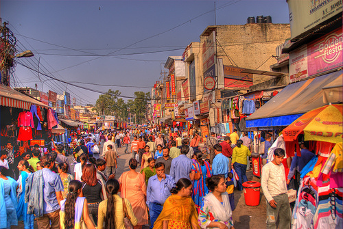 the working capital alphabetic character urban inwardness is real pop alongside the tourists visiting Republic of Republic of India from every nook as well as  Place to visit in India: vi Best  Interesting Markets inward Delhi