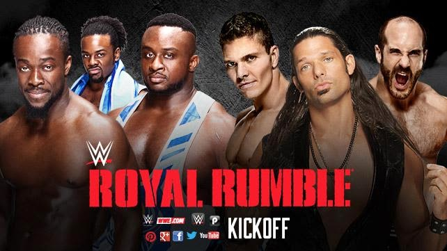 WWE - ROYAL RUMBLE 2015 - Royal Rumble kick off match - The New Day vs. Tyson Kidd, Cesaro & Adam Rose