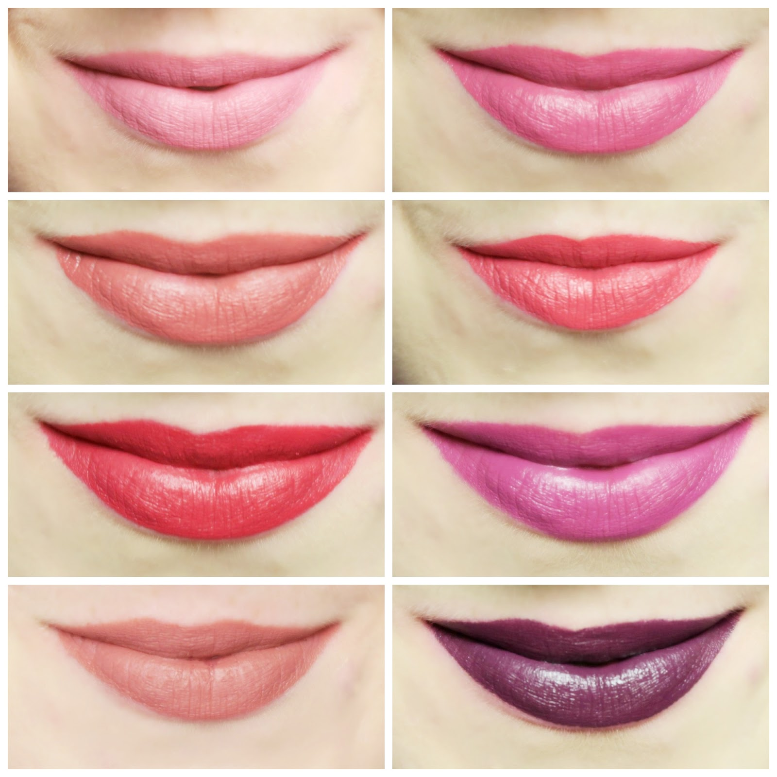 an image of GOSH Liquid Matte Lips swatches