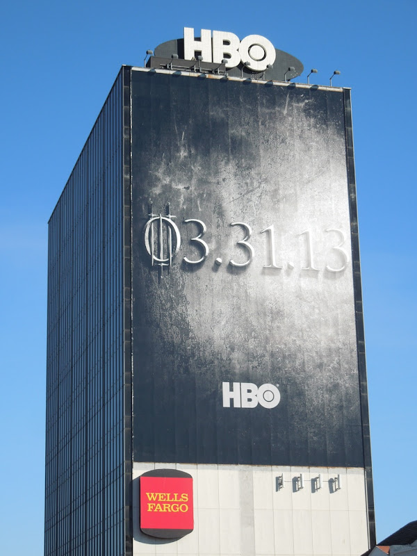 Giant Game of Thrones season 3 teaser billboard