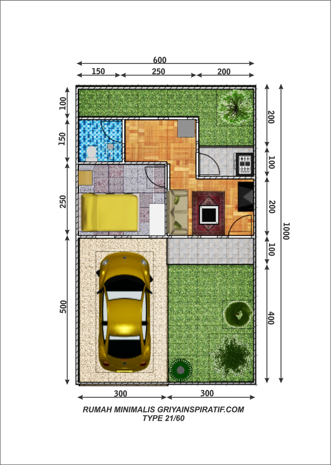 Desain Rumah Minimalis Type 21 60 Rumahminimalis44
