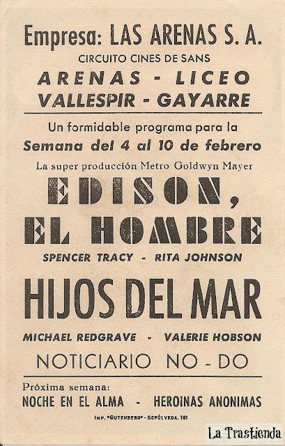 Programa de Cine - Edison, El Hombre - Spencer Tracy - Rita Johnson