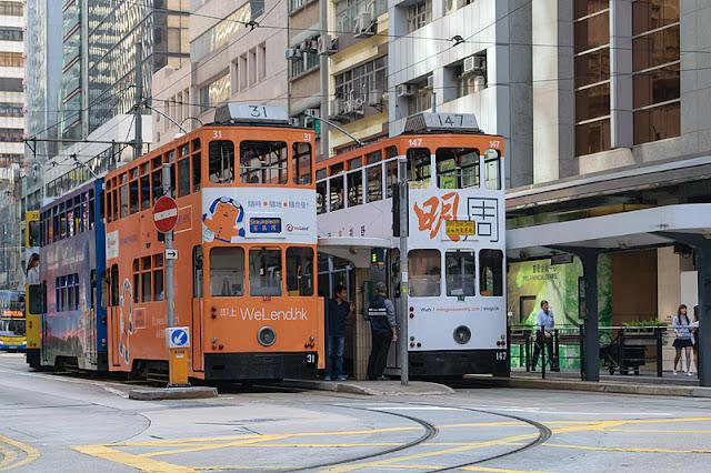 Tramways à impériale à Hong Kong