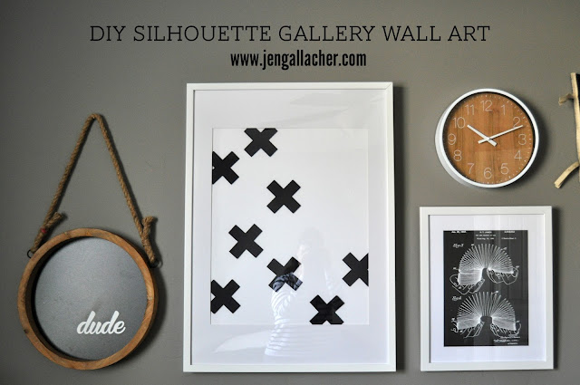 Jen Gallacher: DIY Silhouette Gallery Wall Art