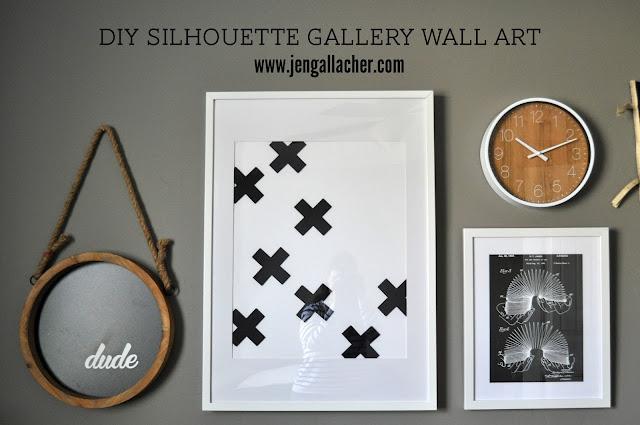 Jen Gallacher: DIY Silhouette Gallery Wall Art