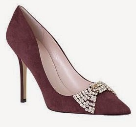 Lissie suede pump with jeweled bow from Kate Spade