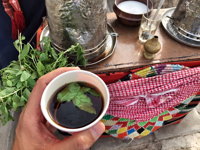 food vegetarian jordan indians tea with mint