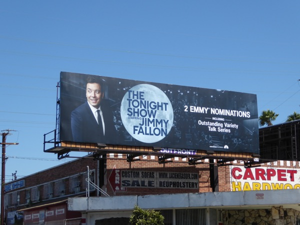 Tonight Show Jimmy Fallon 2016 Emmy nomination billboard