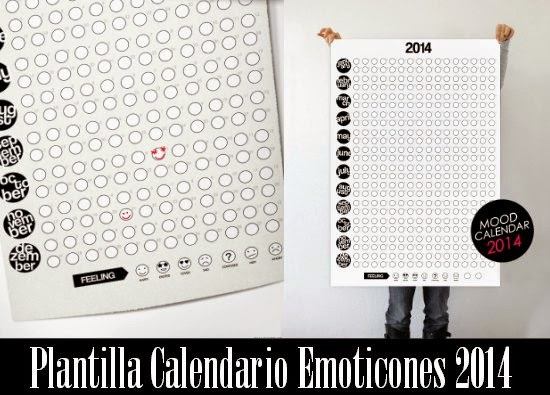 Calendario 2014 segun estado de animo. Descarga Gratuita