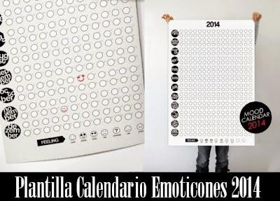 Calendario 2014 segun estado de animo
