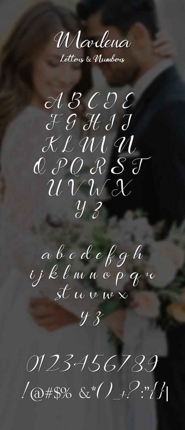Free Font - Marlena Free Font