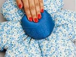 como hacer un cojin con forma de flor