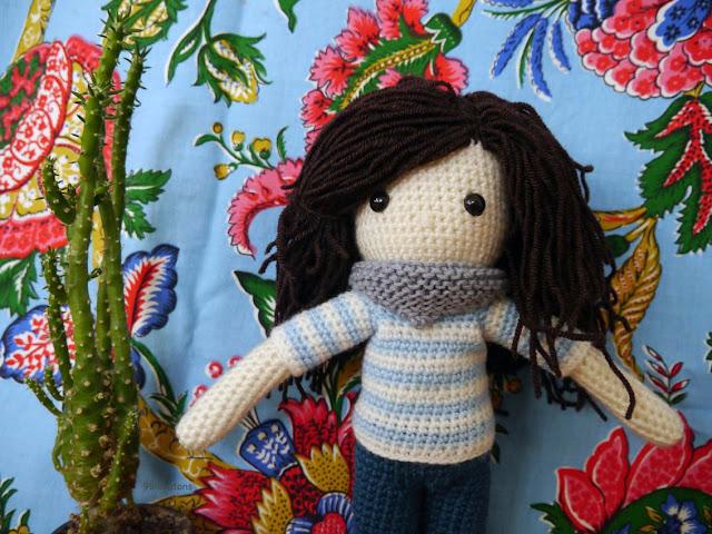 portrait poupée en crochet